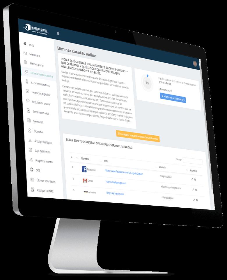 Demo Eliminar Cuentas Online
